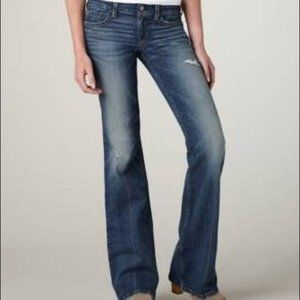 AMERICAN EAGLE ~ AE HIPSTERS  FLARE JEANS ~ 14 ~